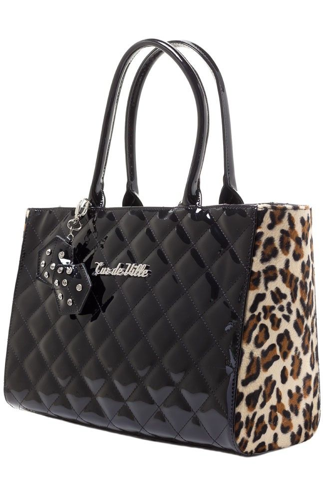 LUX DE VILLE LUCKY ME SMALL TOTE BLK   I want this sooo much! It's $95.00 though...