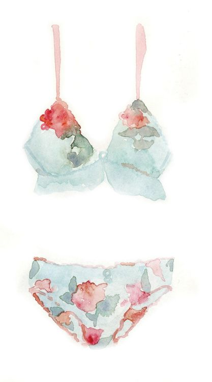 Gorgeous watercolour undies - #watercolour #illustration