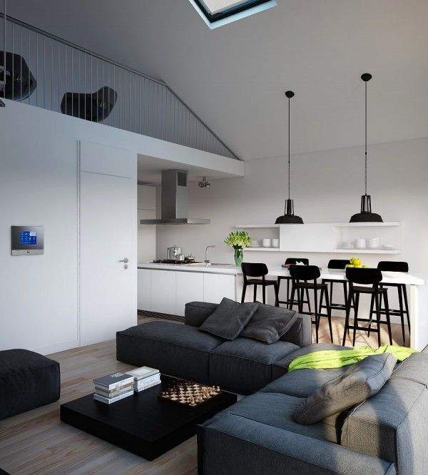 Visualizations modern apartments inspiring industrial lighting classic colors interior design monochrome light