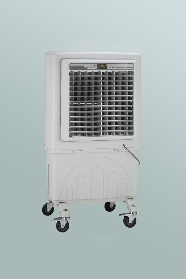 Raffrescatori adiabatici mobili RF 6000, creati per soddisfare le esigenze di raffrescamento di ambienti commerciali come piccoli negozi, uffici, ristoranti e piccole officine.