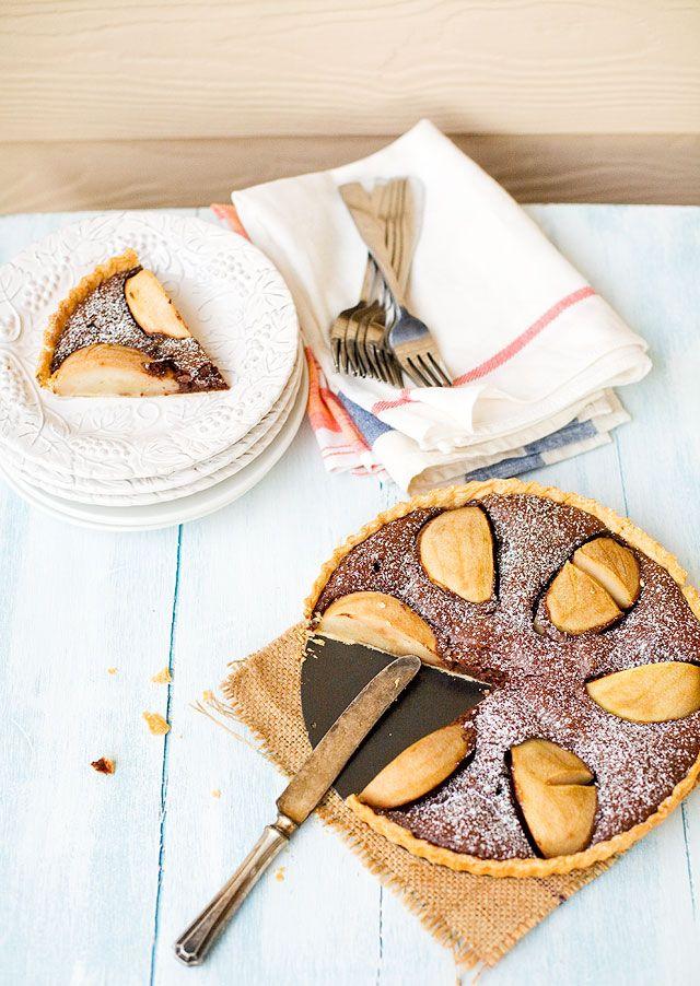 Chocolate and Pear Tarte