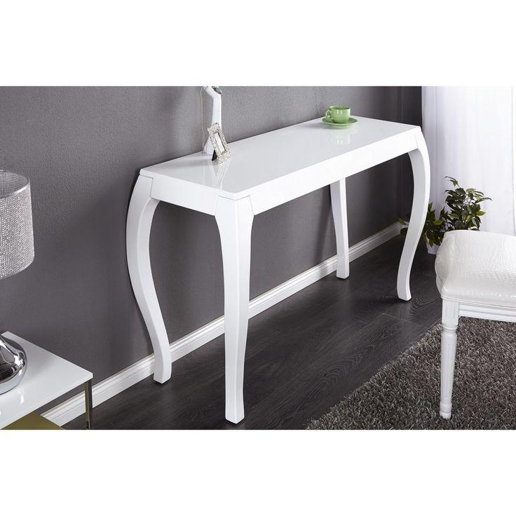 Toaletný stolík/Konzola Barocco  Rozmery: 125x45cm  Výška: 80cm  Farba: Biely vysoký lesk - lak  Material: MDF - lak  Dizajnové tolaletné stolíky, konzoly, stolíky do predsiene či spálne. Stolíky prvotriedne