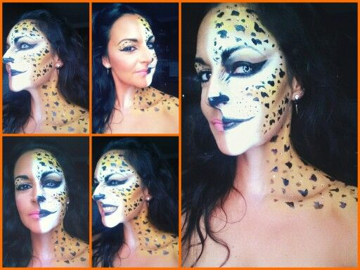 my sexy and scary cat cheetah leopard halloween andor carneval makeup - Scary Cat Halloween Costume