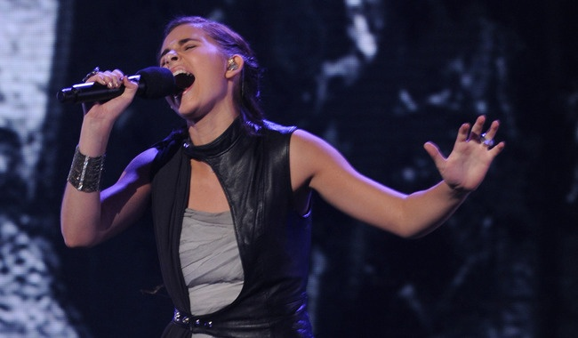 "Carly Rose Sonenclar performs Bruno Mars' ""It Will Rain."""