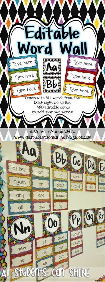 Word Wall - Using magnets to make the word wall accessible to the students. Great for Writer's Workshop and other writing activities!