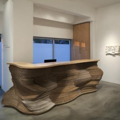 Cardboard Interior Desk Design