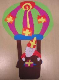 Sinterklaas in een luchtballon knutselen