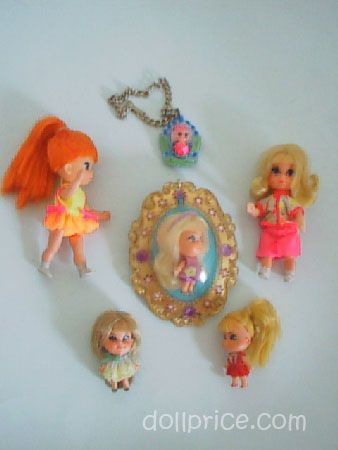 little kiddles dolls from the 1960s | Dolls: Collection of six 1960's Liddle Kiddles - Doll Price Guide