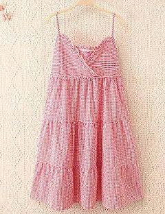 Kadın Günlük/Sade Sade A Şekilli Elbise Solid,Kolsuz V Yaka Mini Pembe Pamuklu Yaz Normal Bel Mikro-Esnek Orta