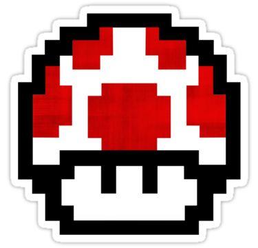 mario bros mushroom logo mushroom mario bros stickers | geek n