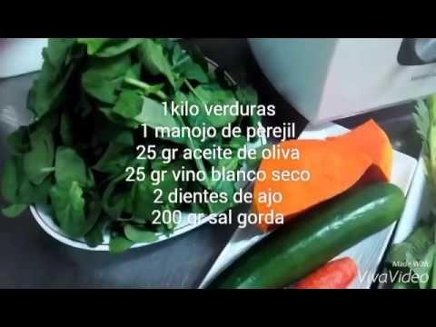 Recetas fáciles Monsieur Cuisine - Caldo de verdur - YouTube