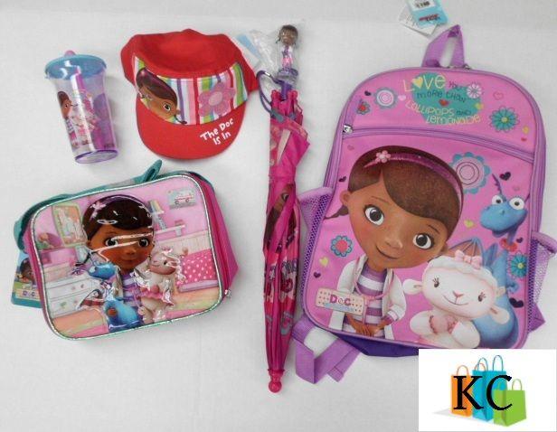 Doc Mcstuffin Gift Pack Cap, Drink bottle,. Umbrella, Lunch bag, Backpack. $120.00 Laybys welcome $10.00 Per week