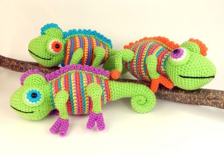 Amigurumi Chameleon Pattern : 264 mejores imagenes sobre Amigurumis de la red en ...