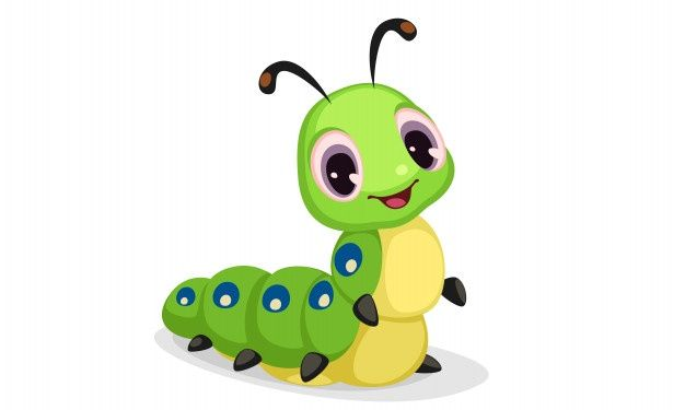 Download Cute Caterpillar Cartoon Vector Illustration For Free In