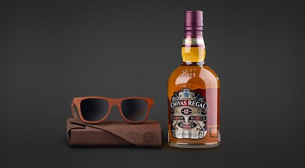 @karunworld partnered with Chivas Regal to create a unique numbered edition of only 30 special 500 years old Oak sunglasses. #mido