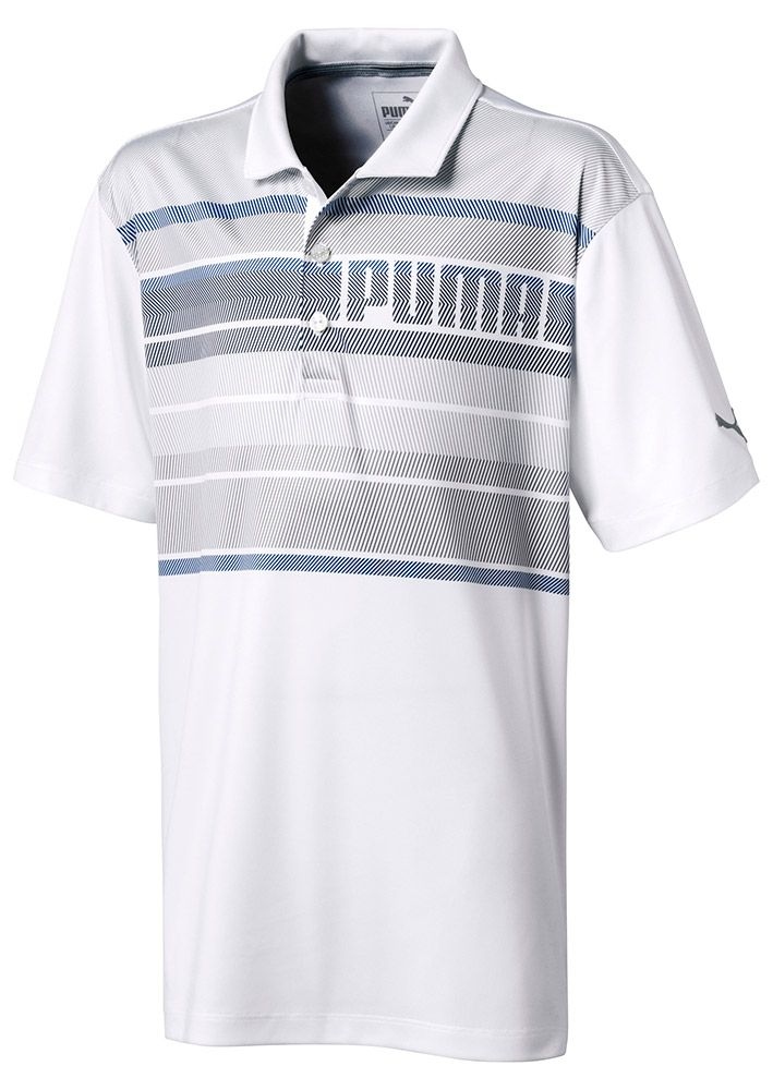 383434cd The Puma Boys Polo Shirt features some serious branding on the left chest  which blends in perfectly to the front panel print.Puma have created this  stunning ...