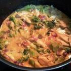 Foto recept: Thaise curry met kip en broccoli
