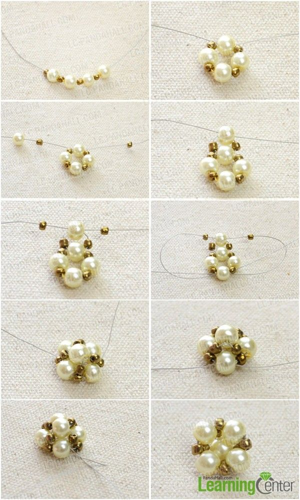 ! | Free Bead Patterns (Tutorials) | Pinterest | Pearl Stud E