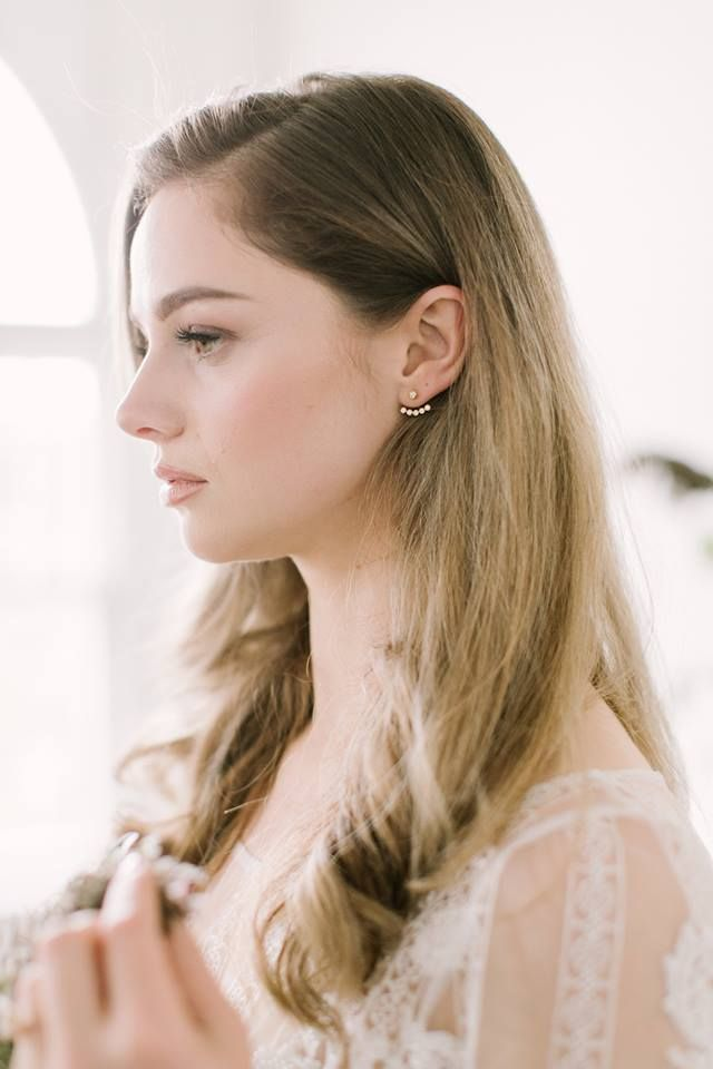 Diamond Jacket Earrings by Ecksand featured in The Wedding Co's French-inspired style shoot.