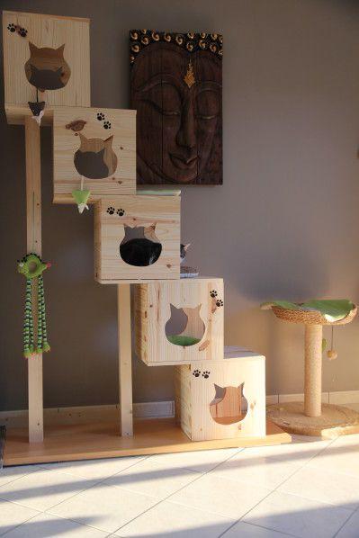 arbre à chat maison avec indications pour la construction http://amzn.to/2qVpaTc