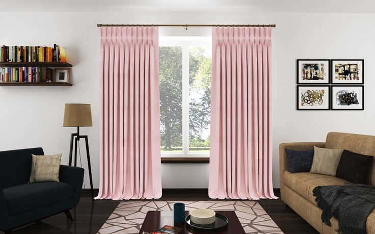 Pinch Pleat Drapery Panels from a Chenille fabric with a beautiful velvet feel.