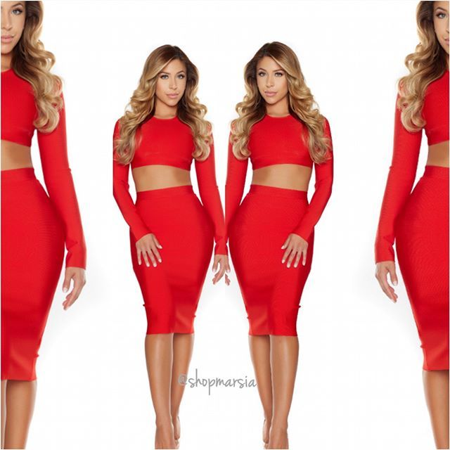 Can't get over the ultra stunning Sheanna bandage set!    Shop: Shopmarsia.com  #shopmarsia