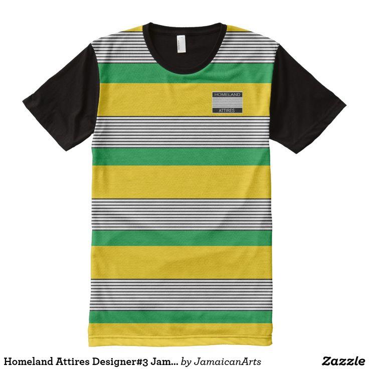 Homeland Attires Designer#3 Jamaica Colors Shirt