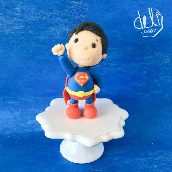 Edible Fondant Superman Cake Topper by DELIdesignsStore on Etsy