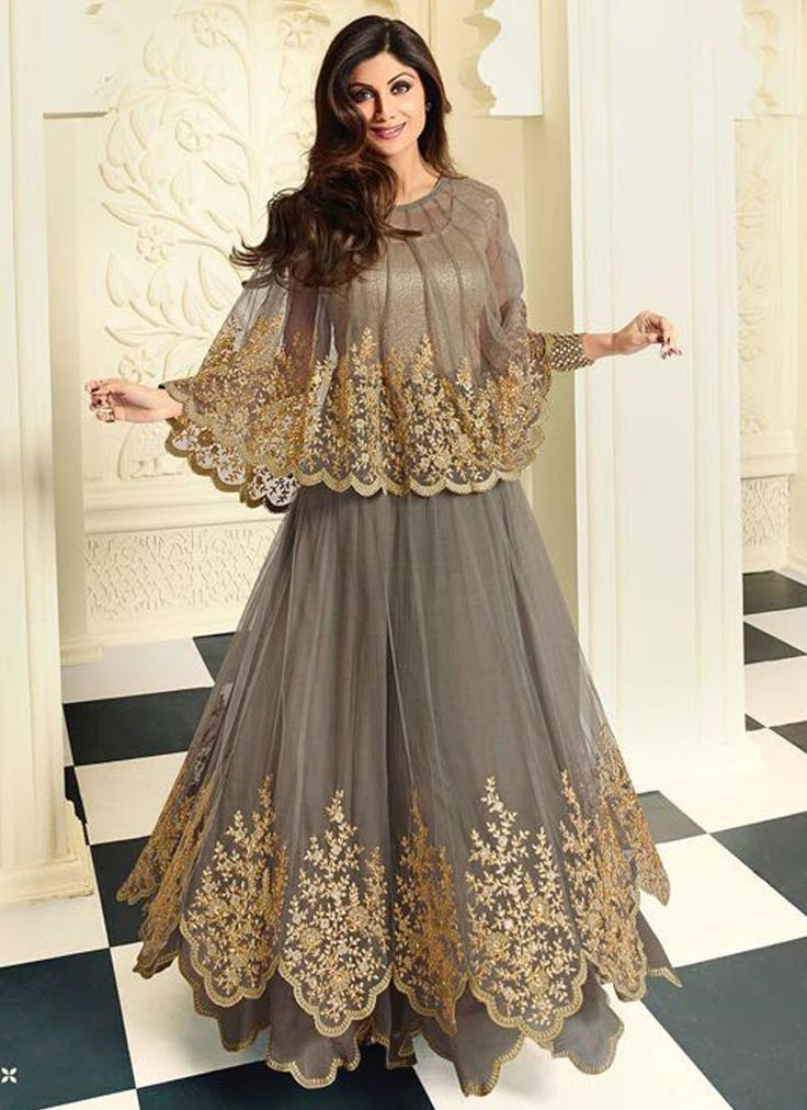 Shilpa Shetty Embroidered Work Anarkali Salwar Kameez