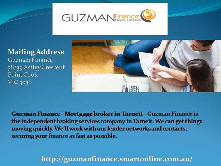 Guzman Finance - Mortgage broker in Tarneit - Guzman Finance is the independent broking services company in Tarneit. We can get things moving quickly. We'll work with our lender networks and contacts, securing your finance as fast as possible.