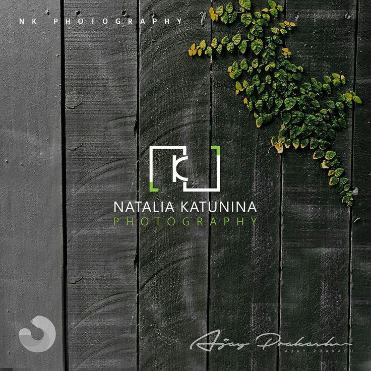 Letter N and K are used to create a minimalistic camera logo for Natasha Katunina.