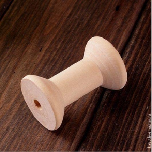 Для украшений ручной работы. Ярмарка Мастеров - ручная работа. Купить Катушка деревянная. Handmade. Бежевый, пуговица, пуговица деревянная