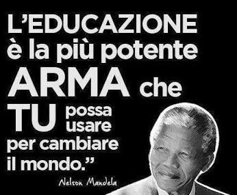 una frase di nelson Mandela.