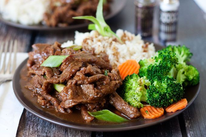 A copycat version of PF Changs popular beef dish. A Mongolian Beef pressure cooker recipe made with Flank steak thinly sliced cooked in a lightly sweet, savory sauce.