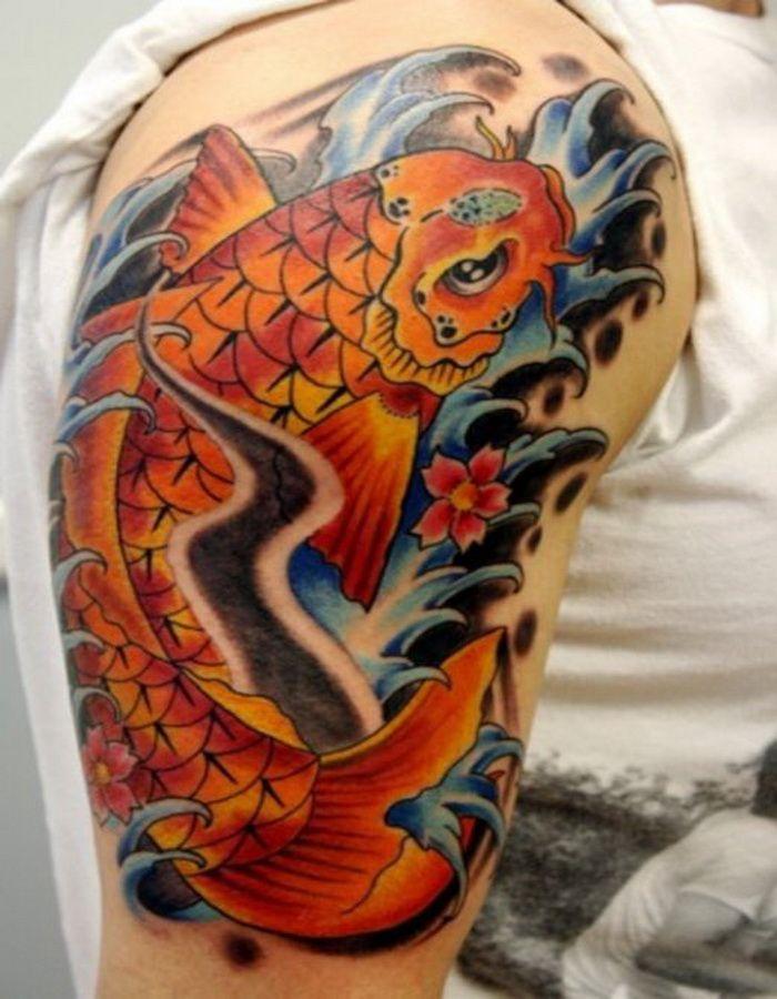 Full Sleeve Koi Tattoo Designs