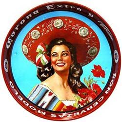 This colorful enamel serving tray featuring the well-known Tapatia hostess is the perfect companion at barbeques and beach parties. Or use it in your home cantina for serving food and drink to friends. Features a no-slip coating on the inside-bottom of the tray to make sure nothing falls over and spills! $12.95