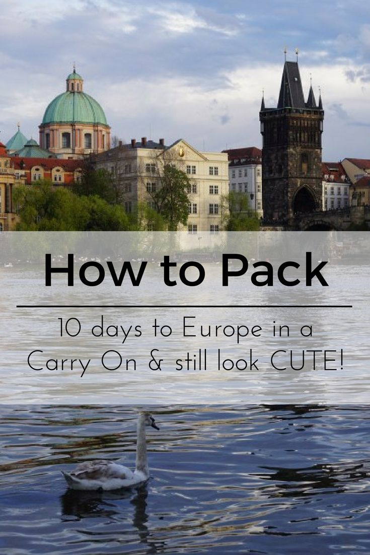 How to pack for a spring time trip to Europe for 10 days in a carry on + still look cute. Europe packing list and packing tips. #Europe #PackingList #spring