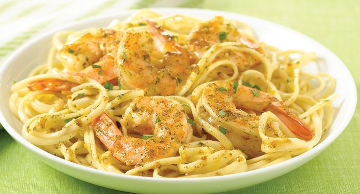 Garlic Butter Shrimp or Chicken Scampi...I would make this with Chicken since we do not eat seafood!