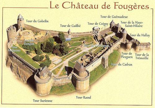 chateau fougeres coloriage - Buscar con Google