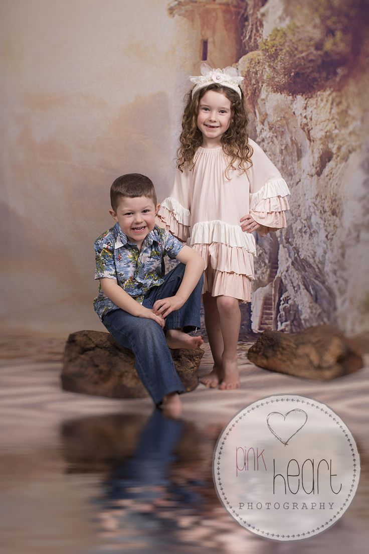Launceston tasmania studio portrait beach set siblings