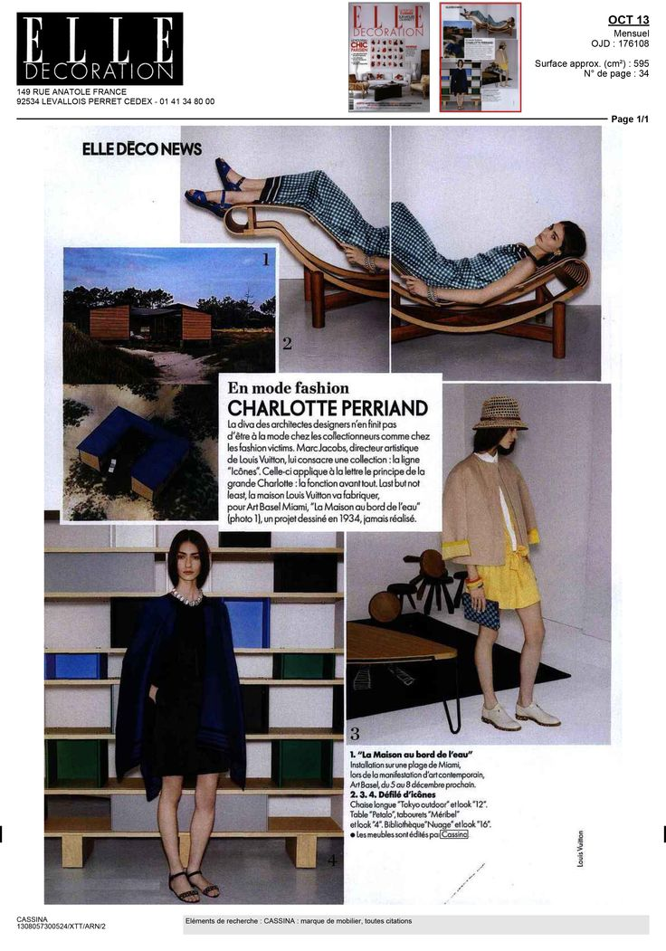 ELLE DECOR - Louis Vuitton shares its passion with Cassina for Charlotte Perriand -