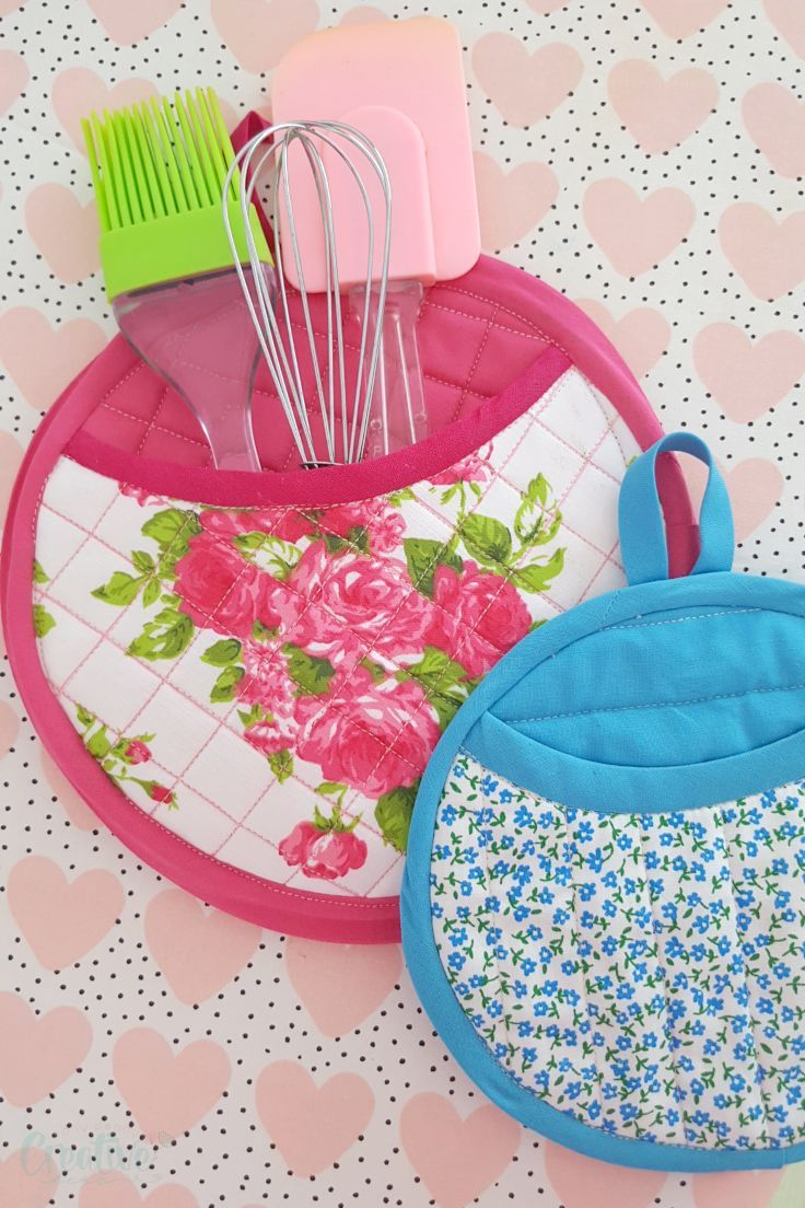 Round Quilted Pot Holder Sewing Pattern Making Potholders Is Fun
