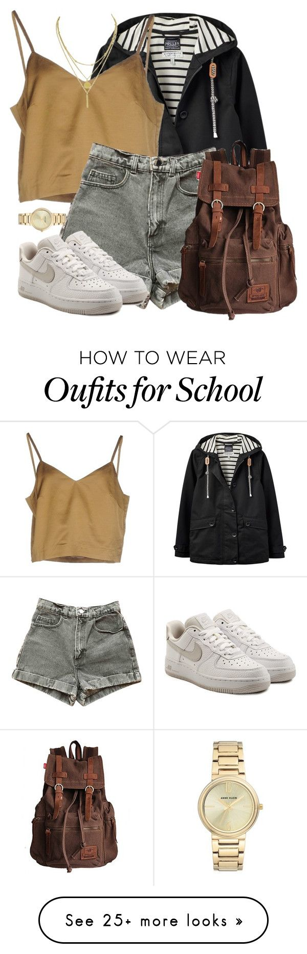 """Untitled #1119"" by cottxncandy on Polyvore featuring Joules, Erika Cavallini Semi-Couture, American Apparel, NIKE and Anne Klein"