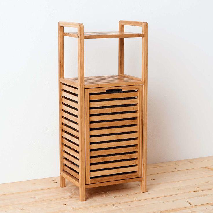 Alles Aufgeräumt Und Griffbereit   Mit Diesem Regal Mit Wäschekorb Für Bad  Oder Schlafzimmer Schaffen Sie