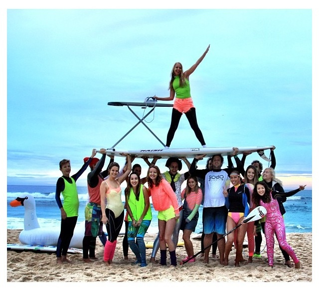 The guys from One Wave Is All It Takes doing their thing on Fluro Fridays - creating awareness for mental illness and curing it with fun in the sun and surfing! Great cause!