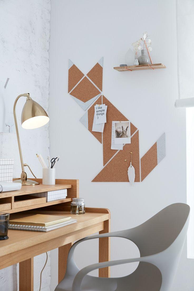 Vorlage für Fuchs-Pinnwand // Schlauköpfe pinnen alles, was sie sich merken müssen, an diese Wand aus Kork. Formgeber: Kein anderer als Reineke Fuc…
