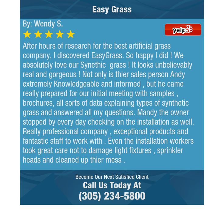 After hours of research for the best artificial grass company, I discovered EasyGrass. So...