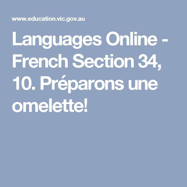 Languages Online - French Section 34, 10. Préparons une omelette!