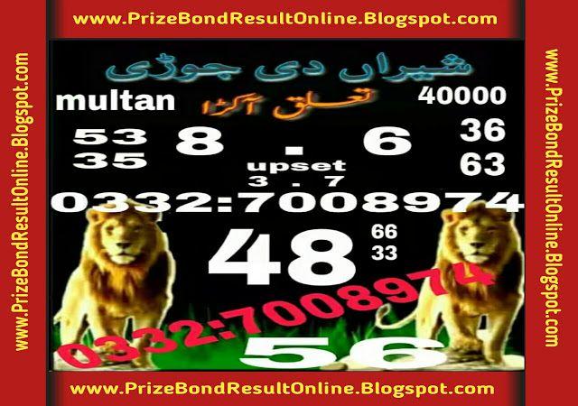 Today Prizebondresultonline blogspot com Provide A prize