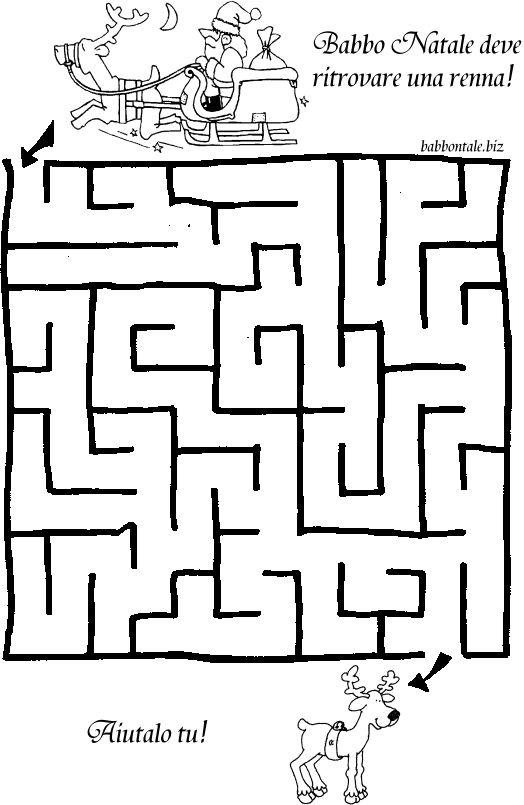 labirinti per bambini da stampare - Cerca con Google
